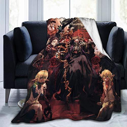 KMIUMIK Overlord Anime Throw Blanket Flannel Fleece Blanket 80 x 60 inchs