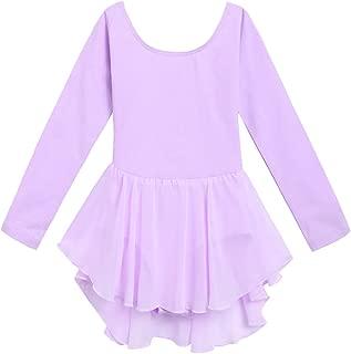Kids Girls Classic Long Sleeve Leotard Dance Ballet Dress