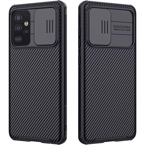 RosyHeart Cover Compatibile con Samsung Galaxy A72 5G, Protezione Fotocamera Custodia Compatibile con Samsung A72 5G, Scudo Fotocamera Cover Anti-Graffio PC Rigida Protettiva Case-Nero