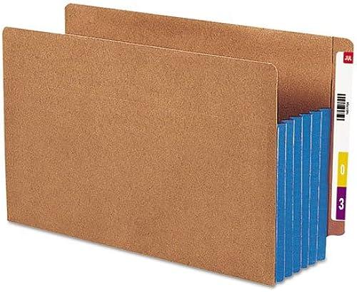 Smead SMD74689 Extrabreit Datei Hosentasche, 5,25-Zoll-Exp, Brief, Blau