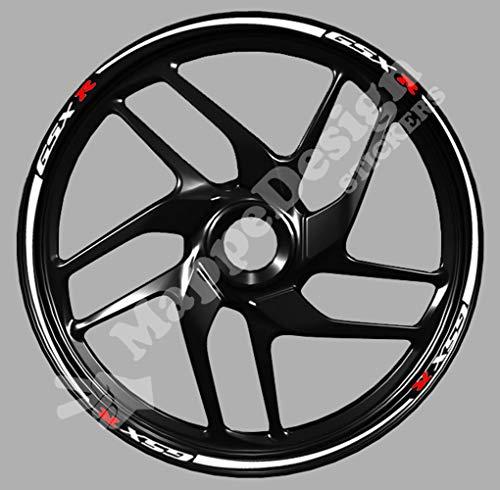 Adesivi cerchi moto Gsx-r gsx r 600 750 1000 wheel strip sticker
