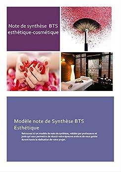 Modèle note de synthèse BTS esthétique-cosmétique : Modèle ...