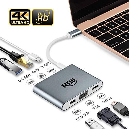 3ポートMacBook USB Cドッキングステーション , RDII Type C ハブ充電ポート搭載 USB3.0 端子不足を解消