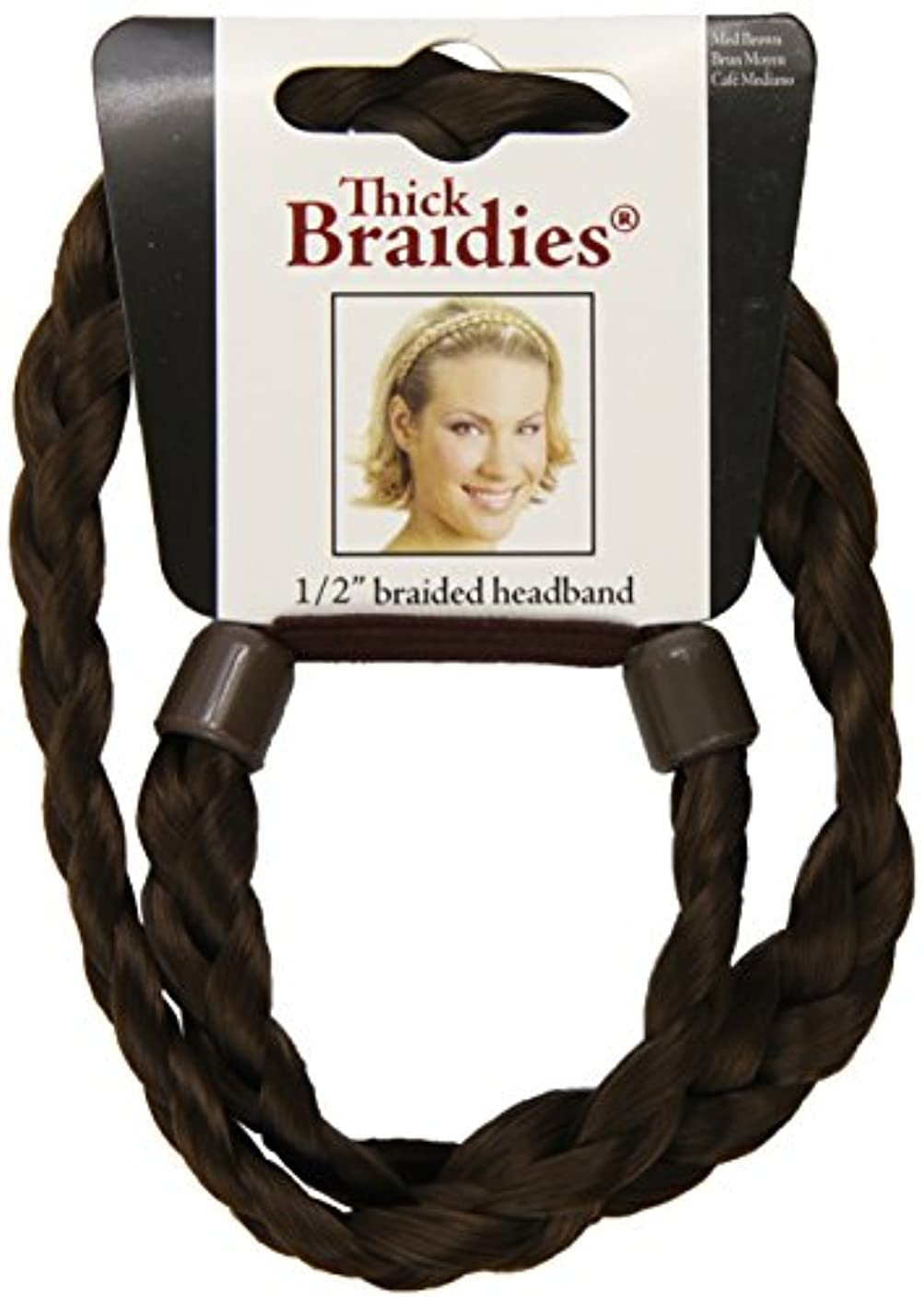 Mia Beauty Thick Braidie Head Band, Medium Brown, 0.05 Ounce opwgufxxgcp523