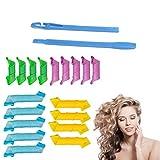 Bigodini Flessibili,18 pezzi Bigodini magici Riccioli a spirale Kit per lo styling,styling per uso domestico Set di bigodini per capelli