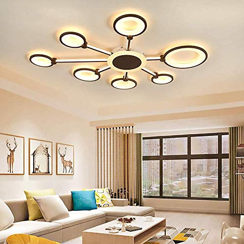 YANQING Durable Modern Minimalist Silicone Acrylic Aluminum Personality Creative LED Living Room Bedroom Dining Room Ceiling Light Illuminate Life