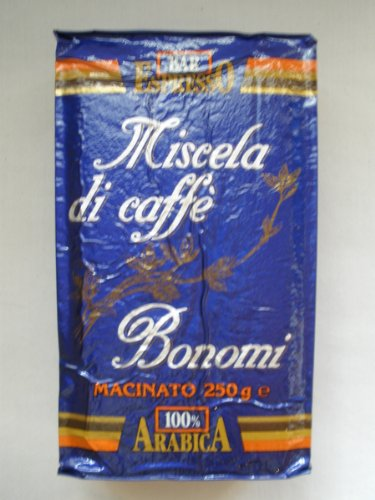Bonomi Miscela di Caffe` Blu macinato gemahlen 250 gr.
