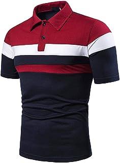 Riou Maniche Corte Uomo Polo Shirt Modello Cucito all-Match Temperamento Business Casual T-Shirt Prima qualità