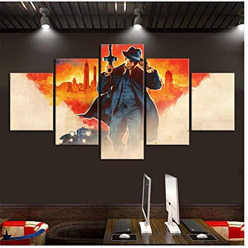 Mafia Definitive Edition Peinture à l'huile Affiche de Jeu vidéo HD Image Papier Peint Toile Art Home Decor-40x60cm 40x80cm 40x100cm sans Cadre