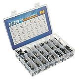 BOJACK 24 valor 630 piezas kit de clasificación de condensadores electrolíticos de aluminio El rango incluye 0.1uF-1000uF