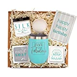 Birthday Gifts Basket for Women - Best Friend Bday Gift for Woman - Happy Birthday Care Box Idea for Her - Surprise Spa Package for Mom Sister Daughter - Unique Fun Female Friends Present Bath Set