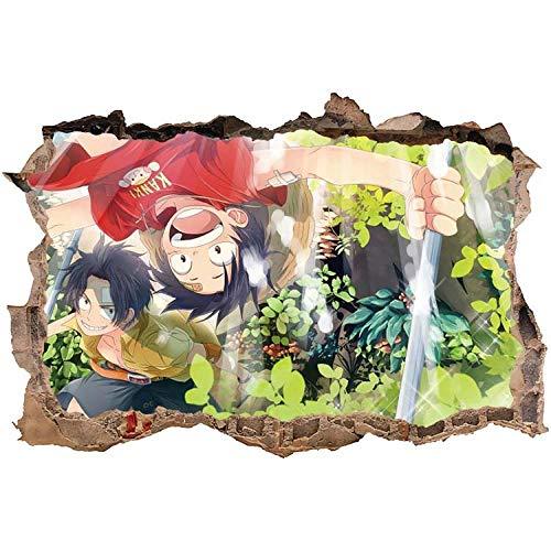 StickersZ 3D Pegatinas de Pared Anime One Piece, Póster De Anime Clásico, Pegatinas De Pared De Sala De Pintura Decorativa De Bar Café-60X90CM-A_40*60CM