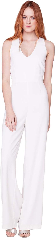 BB DAKOTA Women's Just New Orleans Mall One Jumpsuit Halter Crepe Genuine Stretch Look