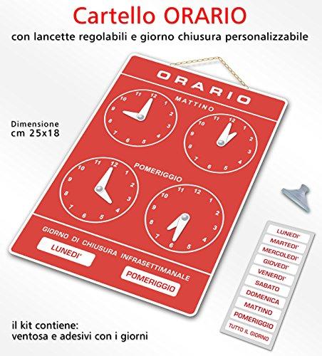 Politarghe R-006 - Cartel para horarios de apertura de tienda, estudio, laboratorio, bar, dorado