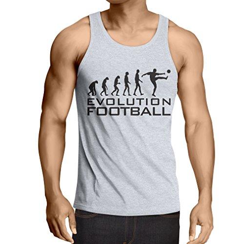 lepni.me Camisetas de Tirantes para Hombre La evolución del fútbol - Camiseta de fanático del Equipo de fútbol de la Copa Mundial (XXXX-Large Blanco Negro)