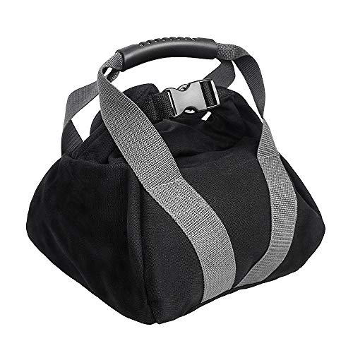 CestMall Weight Kettlebell Sandbag, Adjustable Weightlifting Training Filled Fitness Workout Bag Comfortable Handle Buckle Lock Portable Sandbag for Powerlifting-Weight Exercise-Running and Crossfit