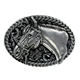 eeddoo® Gürtelschnalle - Pferd (Buckle für Wechselgürtel für Damen und Herren | Belt Frauen Männer Oldschool Rockabilly Metall Gothic Wave Rock Biker Western Trucker Casino Skull)