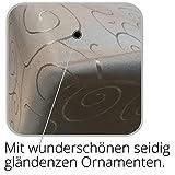 JEMIDI Tischdecke Ornamente Seidenglanz Edel Tisch Decke Tafeldecke 31 Größen und 7 Farben Creme Oval 130×220 - 6