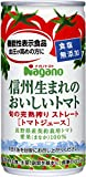 ナガノトマト 信州生まれのおいしいトマト 食塩無添加 190g缶×30本×2ケース(60本)セット