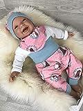 Baby Set 56 62 68 74 Hose, Mütze und Dreieckstuch, Erstausstattung, new born set,Mädchen Pumphose, rosa mint Tiere