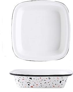 Dinner plate لوحة العشاء الخزفية المربعة،استخدام الأسرة لوحة الحساء سلطة المعكرونة،لوحة الخبز الشخصية تقدم للأرز المخبوز ب...
