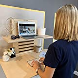 WallStand Wall-Mounted Standing Desk for Your Home Office