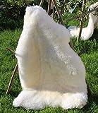 Alpenfell Lammfell Weiß Premium-Qualität 110-120cm echtes Fell ökologische Gerbung
