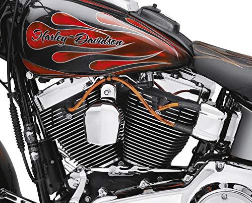 Kit de 2 cables de bujía Harley Davidson originales Screamin Eagle naranja Touring Elle Glide Street Glide Road King Road Glide TRI Glide TRI Glide