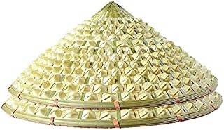 Sunny Hill Pack of 2 Chinese Oriental Bamboo Pineapple Cap Straw Cone Garden Fishing Hat