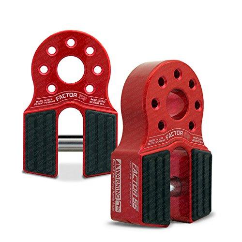 Factor55 FlatLink Loaded Shackle Mount (16,000 Lbs) - Red