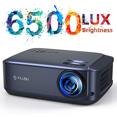 """Video Projector 1080P Portable Projector Supported 200"""" Display, 78000 Hours Led, Compatible with TV Stick/HDMI/VGA/USB/TV Box/Laptop/DVD/PS4 for Home Entertainment"""