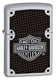 Zippo Harley Davidson Carbon Fibre Feuerzeug, Messing, Satin Chrome, One Size