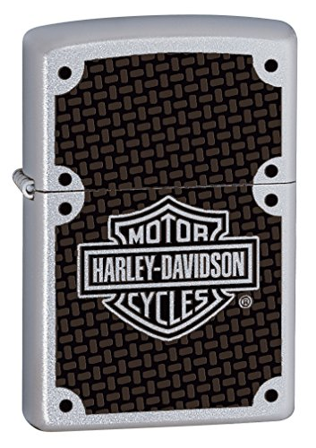 Zippo Harley-Davidson Carbon Fiber Satin Chrome Pocket Lighter