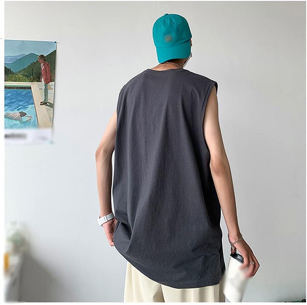 PDGJG Loose Men's Tank Tops Sleeveless Man for Courier shipping free Printed T-Shirt B Super-cheap