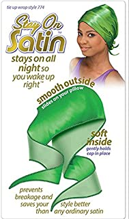 Stay on Satin Tie Up Wrap