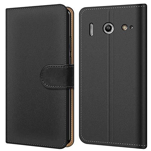 Conie BW7867 Basic Wallet Kompatibel mit Huawei G510, Booklet PU Leder Hülle Tasche mit Kartenfächer & Aufstellfunktion für G510 Hülle Schwarz