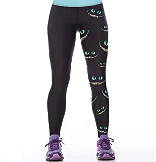 Women's Leggings 3D Digital Print Stretch Footless Workout Sports Pants