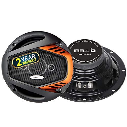iBELL RS650 4-Way Coaxial Car Speaker, 120Watt, 6 Inch | Orange in Black