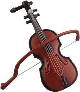 LIOOBO Ornamenti appesi Natale Piccolo Violino in Legno Violino in Miniatura Vacanza Albero Ornamento Ciondolo Decorazione Artigianale