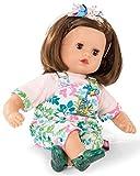 Götz 1920933 Muffin Blooms Puppe - 33 cm große Babypuppe mit braunen Schlafaugen, braune Haare und Weichkörper - Weichkörperpuppe in 6-teiligen Set