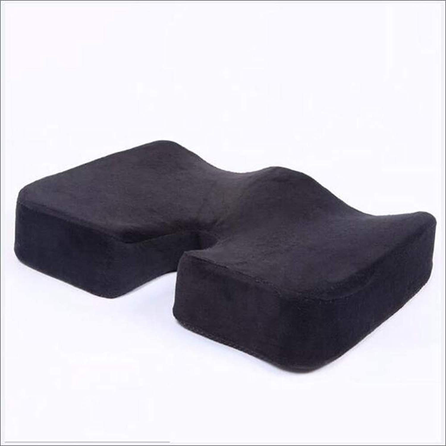 Timeless Comfort 100% Pure Memory Foam Luxury Cushion,Slow Rebound Beautiful Buttocks Office Cushions Thickened Butt Cushions(Black)