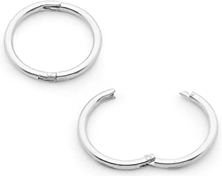365 Sleepers 1 Pair Solid Sterling Silver 8mm 18G Hinged Hoop Sleepers Earrings Hypoallergenic Made in Australia