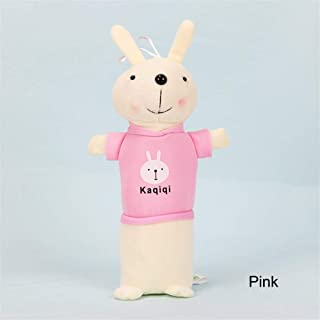 YWSCXMY-AU Cute Cartoon Kawaii Plush Pencil Case, Creative Cute Rabbit Pencil Case School Supplies (Color : Pink)