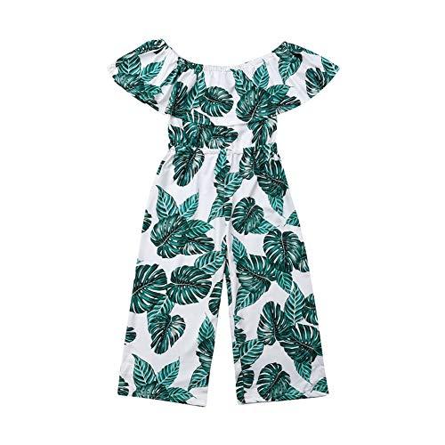 Geagodelia Kinder Mädchen Jumpsuit Sommer Hosenanzug Schulterfrei Playsuit Sommer Einteilg Overalls Outfits