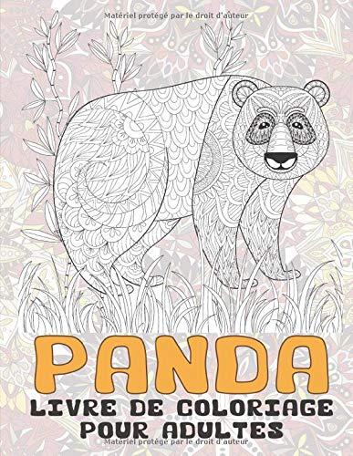 Panda - Livre de coloriage pour adultes 🐼
