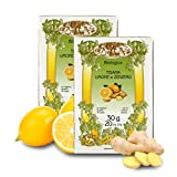 Infusión de Limón, Jengibre y Té Verde - Procedente de Agricultura Ecológica - 20 bolsitas (Paquete de 2 Piezas)