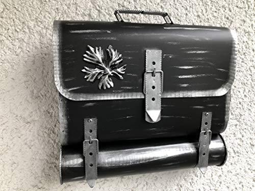 Wandbriefkasten Tasche Retro Design Briefkasten Zaunbriefkasten mit Zeitungsrole aus rostfreiem Stahl verzinkt