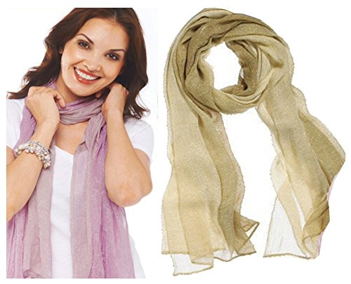 Style 101 Gold Colored Sparkling Shawl - By Ganz