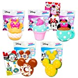 Disney Mickey And Minnie Mouse 5 Pack Blind Box Bundle - Minnie And Mickey Mouse Soft Toys Squeezies With Stickers (Mickey And Minnie Mouse Party Favors)