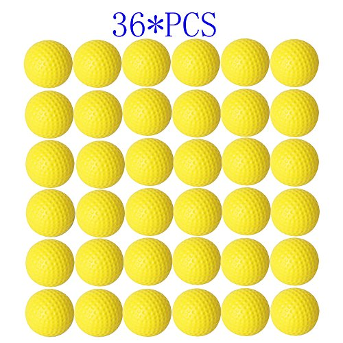 Dsmile Practice Golf Balls, Foam, 36 Count, Yellow